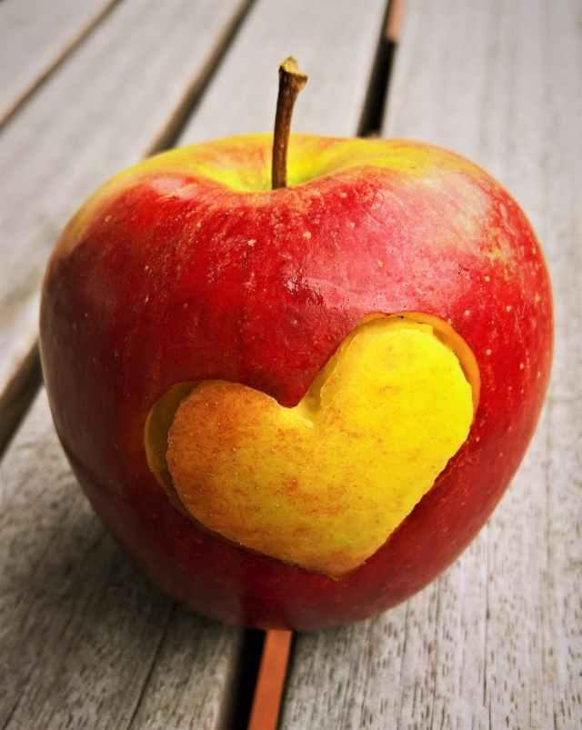 apple bright close up color